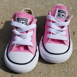 Pink Toddler Converse Low Tops